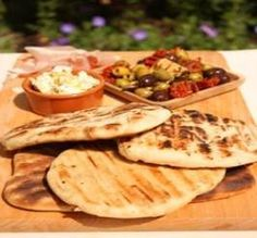 Barbecued Garlic and Rosemary Flat Breads - White Breads -Recipes - Baking Mad