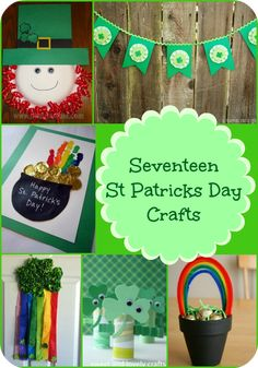 Patrick & s Day Crafts - Fun family activities to dress up!These cute St. Patrick & s Day crafts are a great way to celebrate! There is handicrafts for March Crafts, St Patrick's Day Crafts, Spring Crafts, Holiday Crafts, Holiday Fun, Crafts For Kids, Holiday Ideas, Fun Crafts, Festive