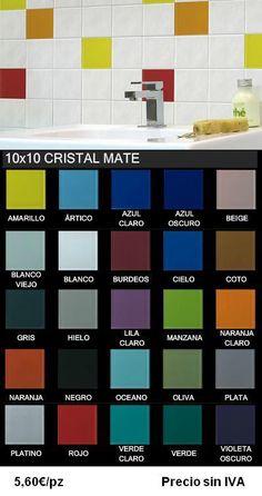 revestimientos de colores 10x10 - baño niñas Julia quiere mezcla de Verde, verde claro, violeta oscuro o claro, malva y oceéano.
