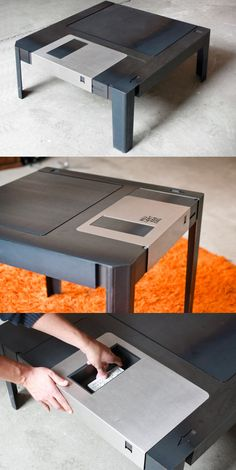 A real floppy disk-shaped table.
