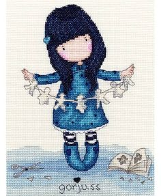 Gorjuss I Found My Family In A Book Cross Stitch Kit £23.00 | Past Impressions | Bothy Threads
