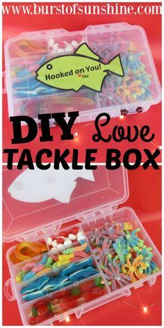 Birthday presents for boyfriend fishing tackle box 37 Super ideas Diy Gifts Cheap, Easy Homemade Gifts, Diy Gifts For Him, Easy Gifts, Creative Gifts, Birthday Present For Boyfriend, Birthday Presents For Men, Presents For Boyfriend, Boyfriend Gifts
