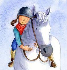 Estelle Corke - Published Horse Pony Girl Cute Hug Cuddle