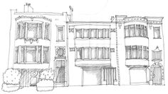 the Richmond, San Francisco. Drawn by my old roommate