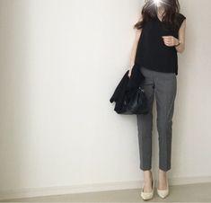 【coordinate】UNIQLOパンツで辛口モノトーンコーデ | Umy's プチプラmixで大人のキレイめファッション