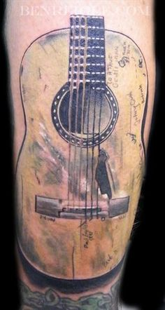 guitar tattoos for men   ... of beautiful guitar themed tattoos that are perfect for guitar players