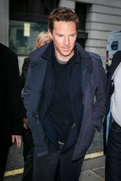 """Benedict Cumberbatch is spotted leaving BBC Radio One studios after promoting his new film """"Doctor Strange"""" in London, UK. Benedict Cumberbatch, Benedict Sherlock, Sherlock Holmes, Stan Lee, Doctor Strange, Lin Manuel Miranda Quotes, Film Doctors, Teddy Boys, First Doctor"""