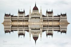 Hungarian parliament reflection by jonasklimas http://500px.com/photo/80846323