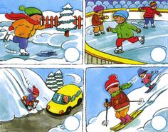 Użyj STRZAŁEK na KLAWIATURZE do przełączania zdjeć Sequencing Pictures, Winter Activities For Kids, Baby Crafts, Special Education, Kids And Parenting, Disney Characters, Fictional Characters, Autism, School