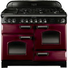 This Rangemaster Classic Deluxe Cranberry with Chrome Trim Electric Induction Range Cooker with stylish Cranberry with Chrome Trim finish looks great in any home. Learn more now! Induction Range Cooker, Electric Range Cookers, Dual Fuel Range Cookers, Electric Oven, 90cm Range Cooker, Stove Oven, Kitchen Stove, Mini Kitchen, Dreams