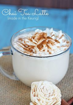 Chai Tea Latte for One {Made in the Keurig} So easy!