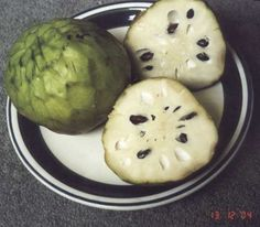Custard fruit - looks really weird on the outside, but absolutely delicious.  The only place I've ever seen one - Hawaii.
