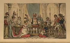 Napoleon's marriage to Josephine, by George Cruikshank, 1814 (Copyright 2009, Department of Special Collections, Memorial Library, University of Wisconsin-Madison, Madison, WI)