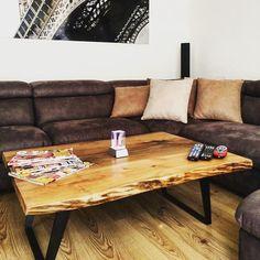 Mozilya Alaca Doğal Ahşap Sehpa Wooden Coffee Table