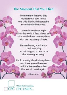 Grandma Quotes Discover The moment that you died - Pet bereavement poem The moment that you died my heart was torn in two one side filled with heartache the other died with you. Mom In Heaven Quotes, Missing Grandma Quotes, Grandmother Quotes, Funeral Poems For Grandma, Loss Of A Loved One Quotes, Grief Poems, Grief Quotes Mother, Sister Quotes, Daughter Quotes