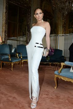 Celebrities wearing couture: 15 stars who make donning intricate pieces look effortless // Jennifer Lopez in Versace