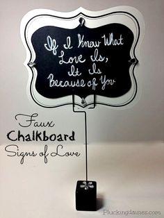DIY Chalkboard Signs of Love   @PluckingDaisy #DavidTuteraDIY #Wedding