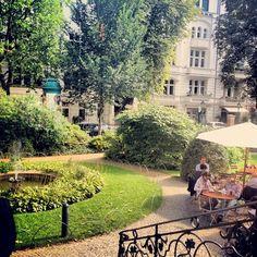 Travel, Holidays and Good Food. Berlin, Cafe im Literaturhaus. Maps