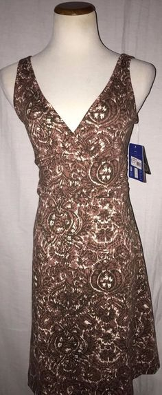 Patagonia Margot Dress M Slim Fit Organic Cotton Multicolor Brown #Patagonia #Sundress #Casual