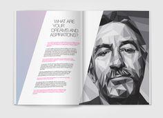 Zig zag Magazine spread by Wade Veldsman, via Behance
