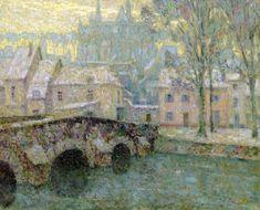 The Athenaeum - Snow, Chartres (Henri Le Sidaner - )