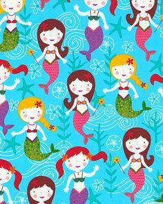 Under the Sea - Mermaid Greetings - Bright Blue