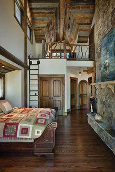 : Handcrafted Log Homes » Georgia Handcrafted Log Home » Georgia Bedroom and Loft