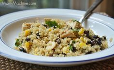 Southwestern quinoa with chicken and black beans