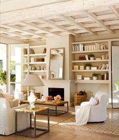 Tonuri naturale de culoare într-o casă de vacanță din Cádiz, Spania Formal Living Rooms, Home Living Room, Living Room Decor, Living Spaces, Dog Spaces, Modern Living, Cadiz, Home Fashion, Style At Home