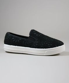 Black Lace Motion Sneaker #zulily #zulilyfinds