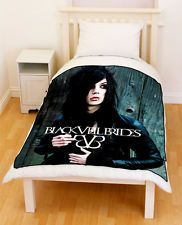 Andy Biersack pillows | Andy Sixx Andrew Biersack Black Veil Brides BVB Fleece Blanket Throw