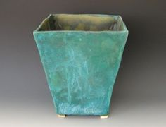 Strontium Blue Bronze cone 6 oxidation Glaze MaterialPercent Lithium Carbonate1 % Strontium Carbonate20 Nepheline Syenite60 Ball Clay10 Silica (Flint)9 Total100
