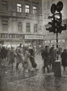 """poboh: """" Schneegestöber / Snow, 1956, Erich Einhorn. (1928 - 2006) """""""