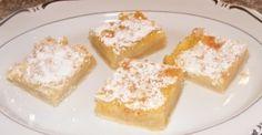 lemon bars   http://bakingmemorieslast.com/2012/01/lemon-squares/