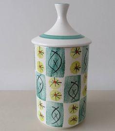 Vintage Gift. Arthur Woods Tall Ceramic Mid Century Storage