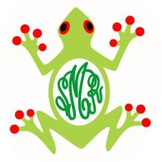 Adorable Tree Frog Amphibian Monogram Pack Cuttable Design Cut File. Vector, Clipart, Digital Scrapbooking Download, Available in JPEG, PDF, EPS, DXF and SVG. Works with Cricut, Design Space, Sure Cuts A Lot, Make the Cut!, Inkscape, CorelDraw, Adobe Illustrator, Silhouette Cameo, Brother ScanNCut and other compatible software.