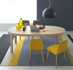 Atelier- Extending Oval Dining Table in Natural- Smoke or Wenge Wood Veneer by Connubia Calligaris Modern Dining Table, Extendable Dining Table, Dining Chairs, Dining Set, Dining Room, Furniture Near Me, Sofa Furniture, Furniture Stores, Houses