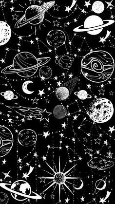 Space Phone Wallpaper, Dark Wallpaper Iphone, Planets Wallpaper, Iphone Background Wallpaper, Black Wallpaper, Galaxy Wallpaper, Cartoon Wallpaper, Hippie Wallpaper, Lock Screen Wallpaper