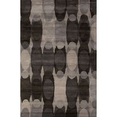 Jaipur Hand-Tufted Novelty Abstract Pattern Charcoal grey/ Chocolate chip Area Rug