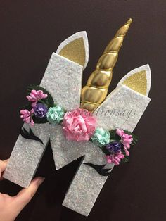 This list is for that unicorn letters that include padded horn and floral headband. Letters, u and W can not contain a horn. Please include glitter and horn color that you wish for your letters in the note to the seller at the time of the - Unicorn Themed Birthday Party, Unicorn Birthday Parties, First Birthday Parties, First Birthdays, Farm Birthday, Diy And Crafts, Crafts For Kids, Bug Crafts, Paper Mache Letters