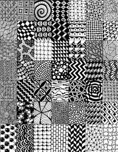 By Laura Bernárdez #Zentangle #Tangles #Doodles #Patterns
