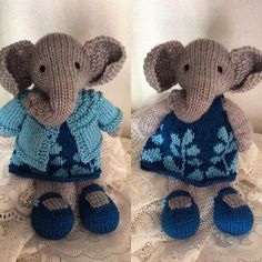My daughter looked through my patterns of @littlecottonrabbits and she chose the elephant. I have to say I'm a little smitten with this knitted baby. I am searching for the perfect buttons for her cardigan. #littlecottonrabbits #jimmybeanswool