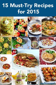 Kick off 2015 with our 15 must-try recipes! Here at MyFitnessPal our resolution is to help you achieve a healthier you, and we're hoping you do so starting with some tasty food. These recipes featu...
