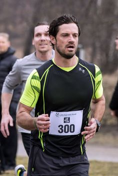 Swedish Prince Carl Philip during the Little Child's Run in Hagaparken.