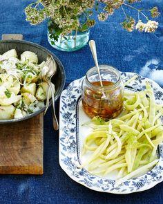 Farm to Table: Flat Beans with Tomato Vinaigrette and Potato Salad — Kitchen Repertoire
