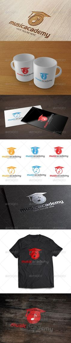 Music Academy  - Logo Design Template Vector #logotype Download it here: http://graphicriver.net/item/music-academy-logo-template/8399552?s_rank=621?ref=nexion