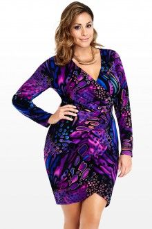 Plus Size Adelle Wrap Dress - Cute for a date night