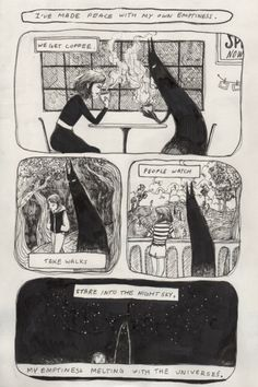 Tumblr Art: A Comic About Being Content with Loneliness