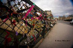 "The ""Love Lock"" Bridge. Notre Dame."