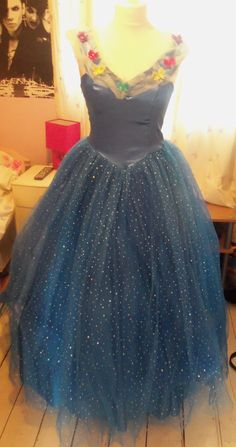 Beautiful Cinderella live movie butterfly dress costume ball gown 10 12 14 16 disney